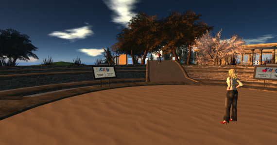 The Kitely Welcome Center is the default landing region when teleporting to grid.kitely.com:8002.