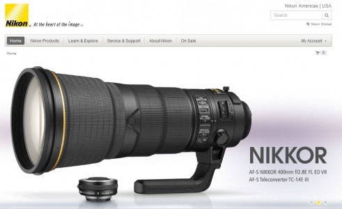 Nikon uses its yellow brand color very strategically for accents, like the little yellow navigation button at bottom right.