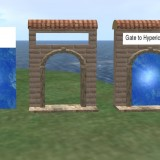 The gate is just the flat panel and can be slid into a gate frame.
