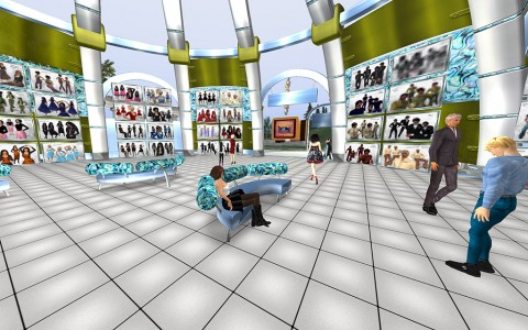 The store scene in the Hyperdome.