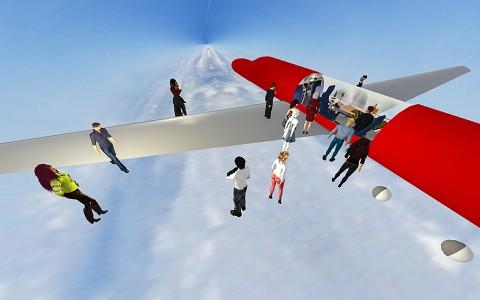 Viewing the aeromedical simulation.