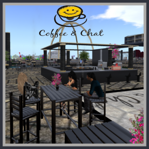 Coffee and chat at Virtual Highway's welcome area. (Image courtesy Virtual Highway.)