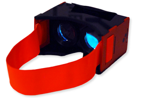 The Vrizzmo is a low-cost virtual reality headset designed to hold a smartphone.