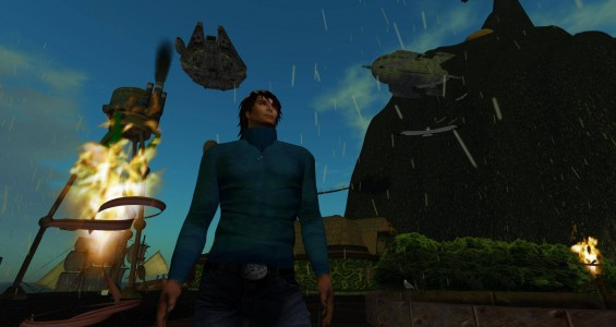 Alexandro Pomposelli, as Alex Ferraris, on the re-launched AviWorlds grid. (Image courtesy AviWorlds.)