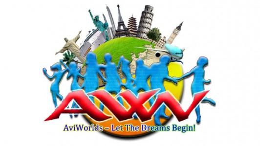 AviWorlds logo horizontal