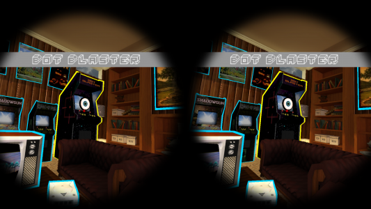 Those arcade machines are actually third-party virtual reality applications. (Image courtesy GameFace Labs.)