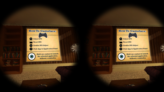 Example of GameFace user interface. (Image courtesy GameFace Labs.)