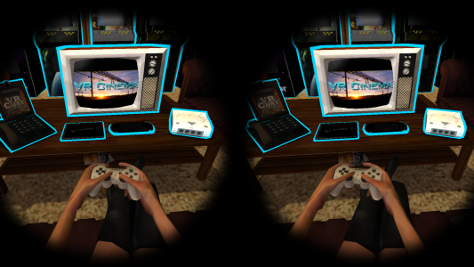 Hanging out on your virtual couch, in front of your virtual TV. (Image courtesy GameFace.)