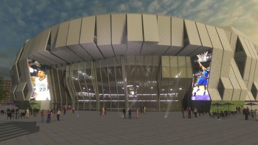 The planned new arena for the Sacramento Kings. (Image courtesy ArchVirtual.)
