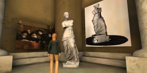 Aphrodite -- better known as Venus de Milo -- on display in Art Gallery 25. (Image courtesy MellaniuM.)