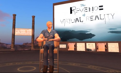 Philip Rosedale, founder and CEO of High Fidelity, visiting the MOSES OpenSim grid.