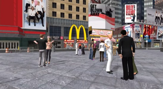 New York City's theater district in TimeWalk.