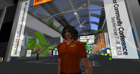 Conference volunteer Michael Emory Cerquoni — also known as Nebadon Izumi in-world. (Image courtesy AvaCon.)