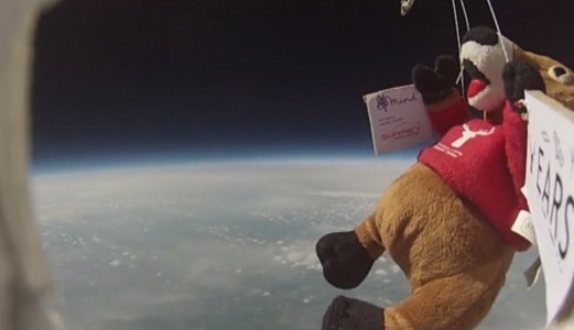 The team did a test of the hardware in May that sent a stuffed toy 28 kilometers up.