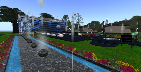 Fashion Expo's runway fountains. (Image courtesy Tangle Grid.)