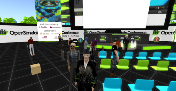 Load test on the OpenSimulator Community Convention grid. (Image courtesy Stephen Gasior.)