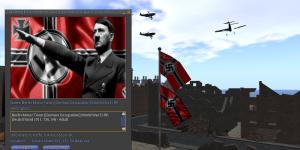Screen shot of the WWII role play sim. (Image courtesy Suzan de Koning.)