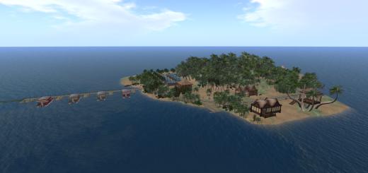 Tropical Isle 4 region mini-continent