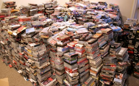Oh, video tapes. I remember you well. And I still have a pile of you somewhere that I can no longer play. (Image courtesy Brian via Flickr.)