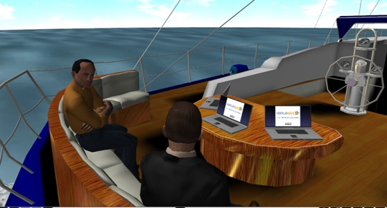 Sometimes, the right place for a mentoring meeting is on the high seas. (Image courtesy Venuegen.)