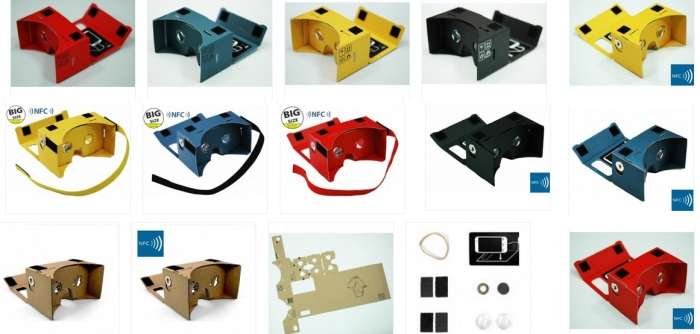 They come in different colors, too. (Image courtesy Google Cardboard.)