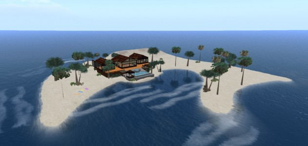 My new region, called Koanend, on OSgrid. I think I like it.