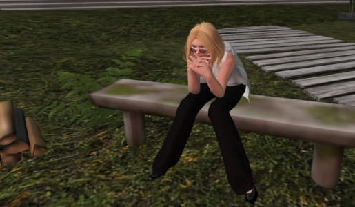 My new shape and face in Second Life.