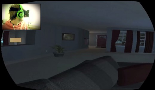 PewDiePie tries out a scary Oculus Rift game. (Click image for full YouTube video.)