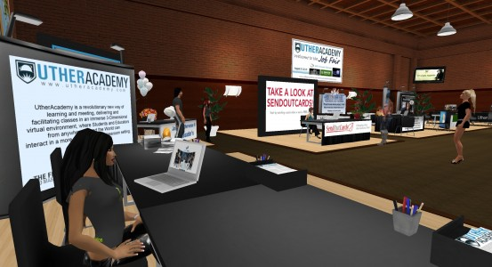 VirtualCon job fair. (Image courtesy Utherverse.)