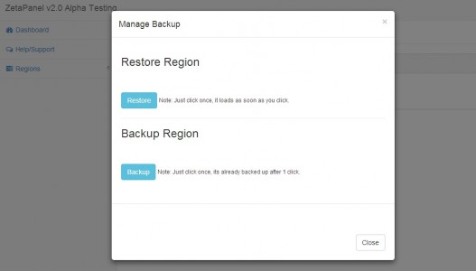 ZetaPanel backup