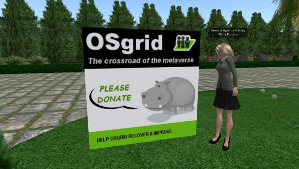 Grids and blogs put up donation signs in support of OSgrid.