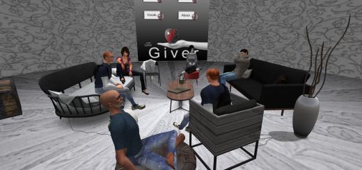Alansary's English class at Virtlantis Sim. (Image courtesy Bassima Alansary.)