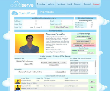 A CloudServe control panel. Click for full-sized image. (Image courtesy CloudServe.)