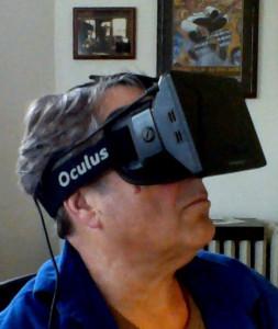 Paul Emery wearing the Oculus Rift.