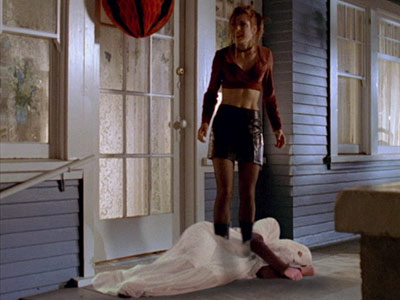 Willow as ghost on Buffy.