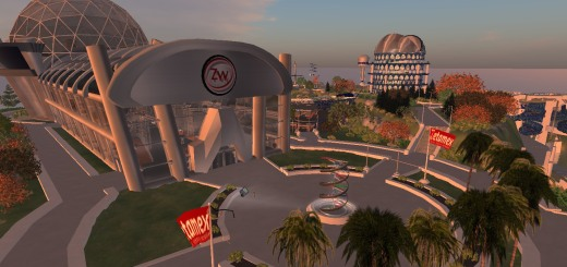 Virtual corporate offices of Zetamex, on ZetaWorlds grid.
