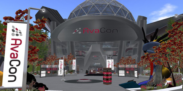 AvaCon's virtual offices in OpenSim. (Image courtesy AvaCon.)
