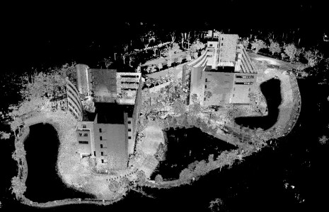 Point cloud model of the laser-scanned scene. (Image courtesy Douglas Maxwell.)