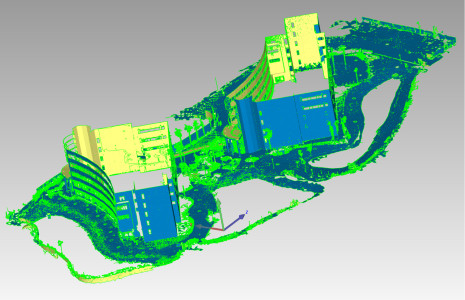A high-polygon mesh model created from the previous point cloud. (Image courtesy Douglas Maxwell.)