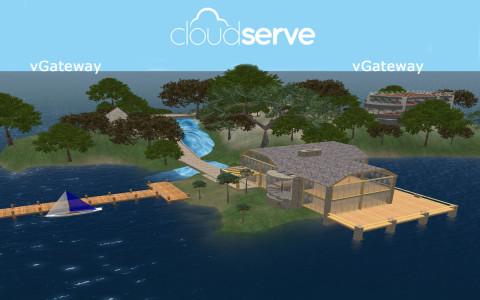 A pre-built starter region. (Image courtesy CloudServe.)