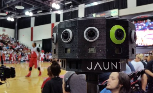 Jaunt VR camera for producing 360-degree videos. (Image courtesy Jaunt VR.)