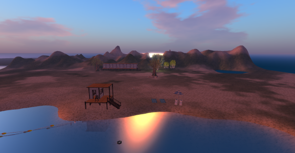 Nudist beach on the Silver Moon region of Littlebird grid. (Image courtesy Littlebird.)