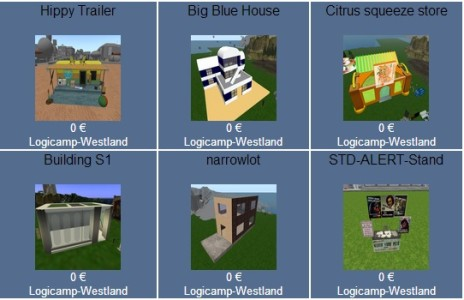 Six of the 335 items currently available for free download on the Logicamp Boutique.
