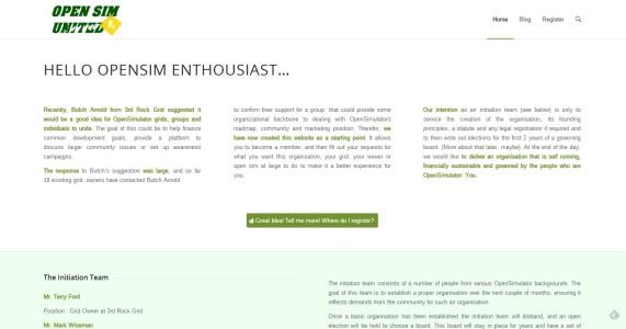 OpenSim United website