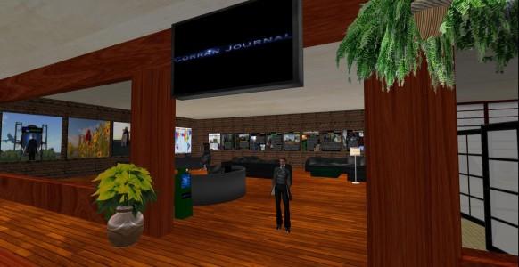 Corran Journal new satellite office on Moon Island Mall in InWorldz. (Image courtesy Corran Journal.)