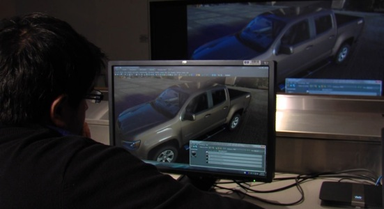 Chevy engineers work on the 2015 Chevrolet Colorado. (Image courtesy Chevrolet.)