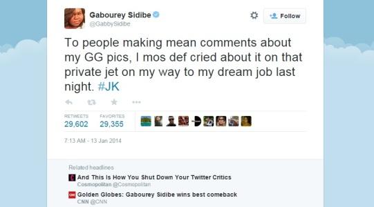 Gabourey Sidibe Twitter quote