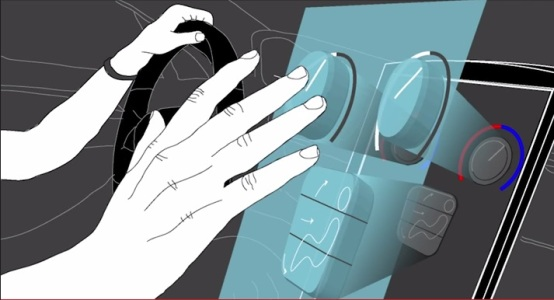 Haptic ultrasound for driving
