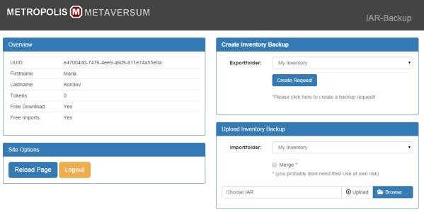 Metropolis inventory backup tool.