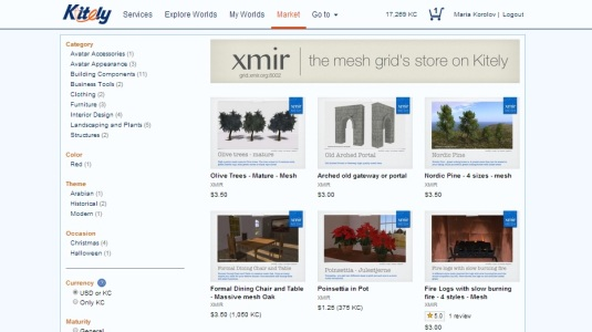 Xmir store on Kitely Market.